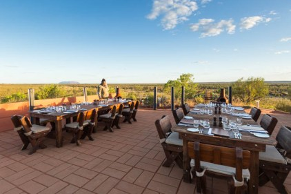 Image of Uluru outdoor restaurant table settings
