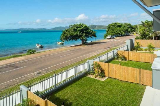 Image of view from balcony to Thursday Island waterfront