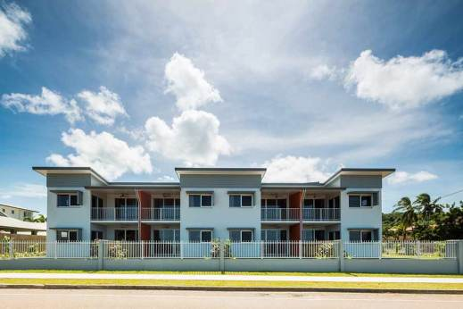 Image of a unit housing development, Torres Strait Islands