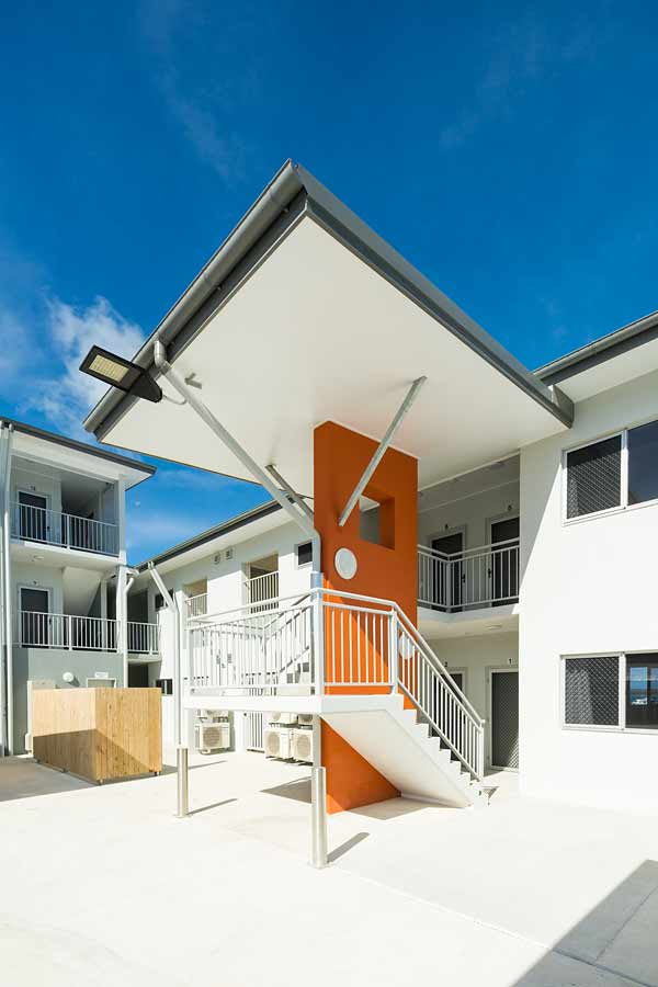 Image of stairway at a unit housing development, Thursday Island