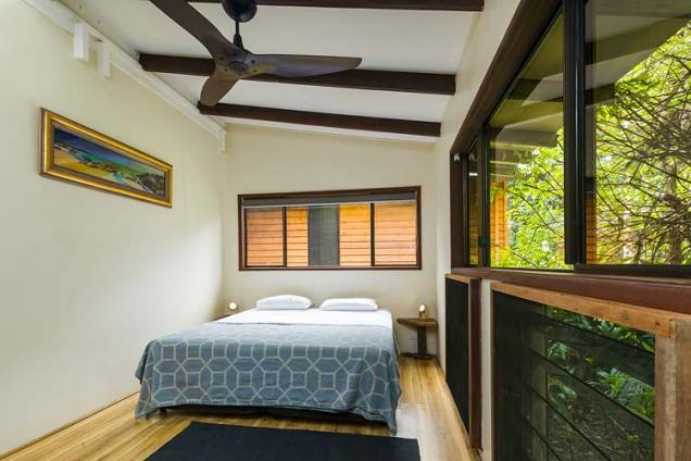 Bedroom interior of a Daintree holiday cottage