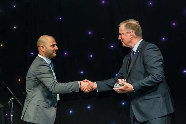 Awards presentation at Bridgestone Tyres Conference