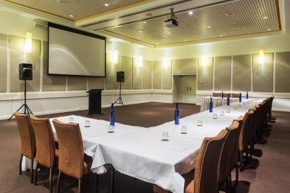 Conference room setup in hotel resort