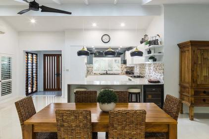 Dining and kitchen areas of residential home