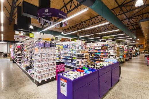 Interior of the Barr St Markets building showing the Wholehealth Pharmacy