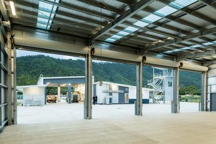 View from auxiliary equipment bays at the Gordonvale Fire Station