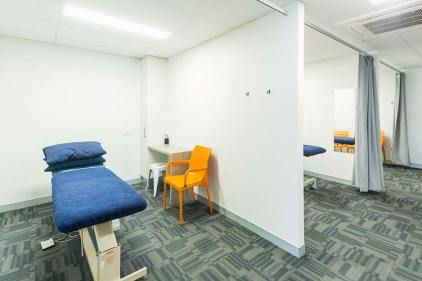 Interior of the Cairns Total Physio building showing physio and treatment rooms