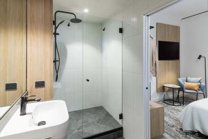 Bathroom interior for a hotel room internal at the Oaks Cairns