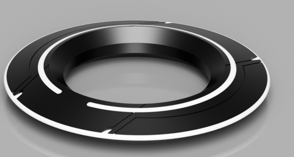 3D Rendering of Tron Identity disc from Fusion360 CAD Program.
