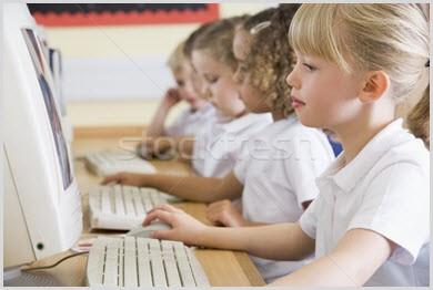 Картинка с детьми у компьютеров