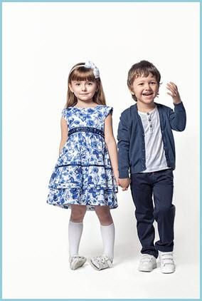 Красивая пара детей