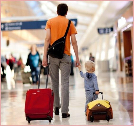 Мы едем с папой к маме