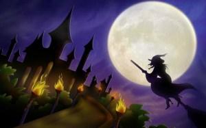 Злая ведьма на метле