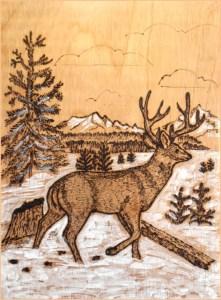 картинка олень бежит