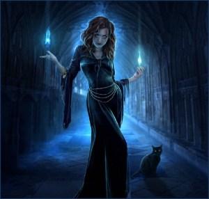 Ведьма со свечами