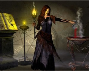 Ведьма с факелом
