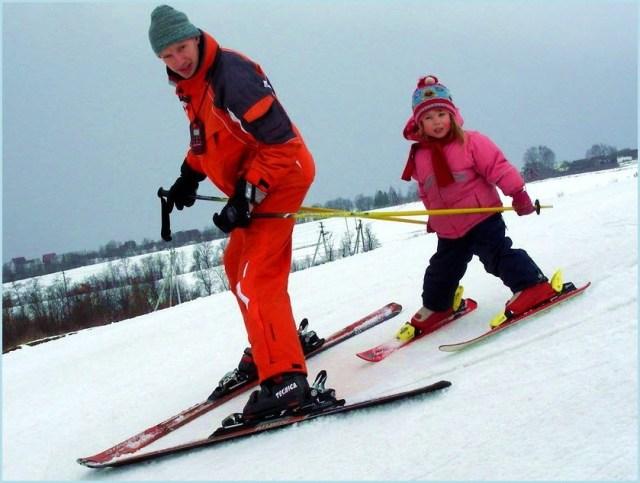 На лыжах с горы