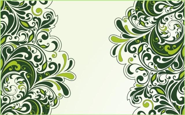Зелёный узор