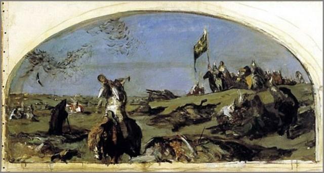 После Куликовской битвы картина