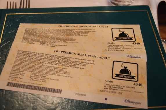 Voucher do plano de alimentação em papel