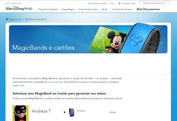 magic band pulseira da Disney