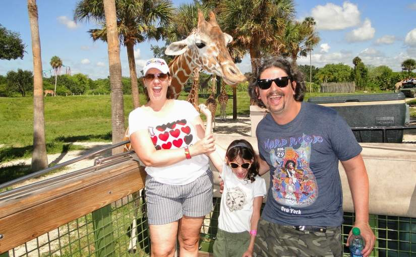 Serengeti Safari: Alimentando as girafas no Busch Gardens