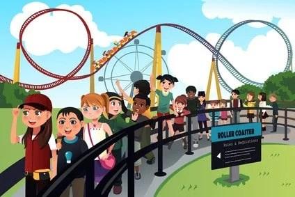 Tipos de filas nos parques de Orlando