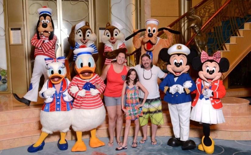 Encontro com personagens no cruzeiro Disney