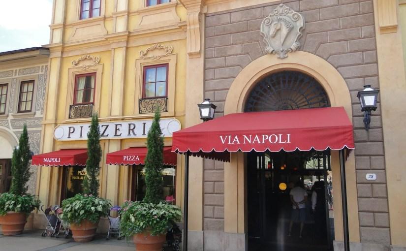 Via Napoli: Sua pizza assada nos vulcões da Itália em Epcot