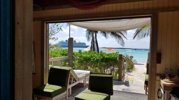 cabana vip na ilha da disney Castaway Cay