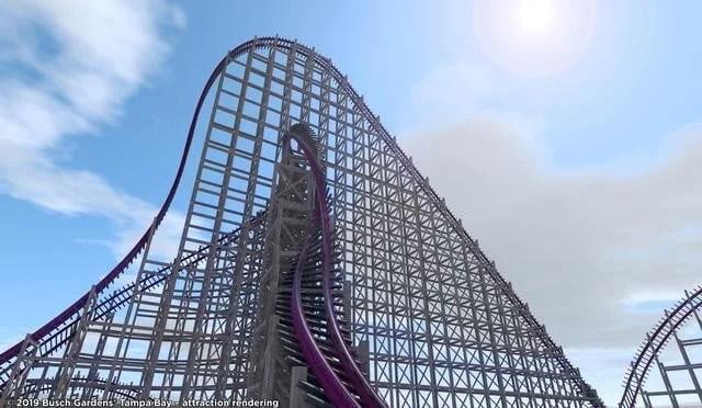 Busch Gardens anuncia nova montanha-russa super radical
