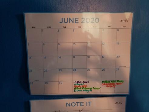Our wedding planning calendar for June