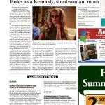Roles as a Kennedy, stuntwoman, mom  – July 15, 2018