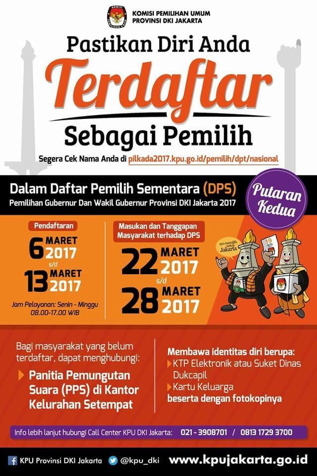 Ayo Mendaftar Putaran II PIlkada DKI Jakarta 1