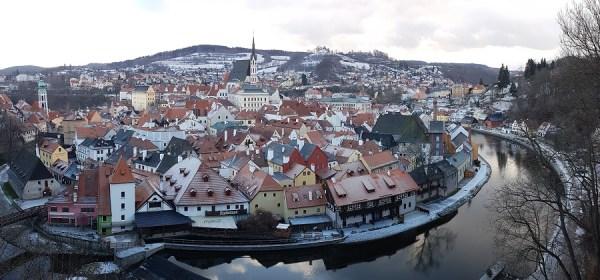 зима Чески Крумлов,Новый год Чехия