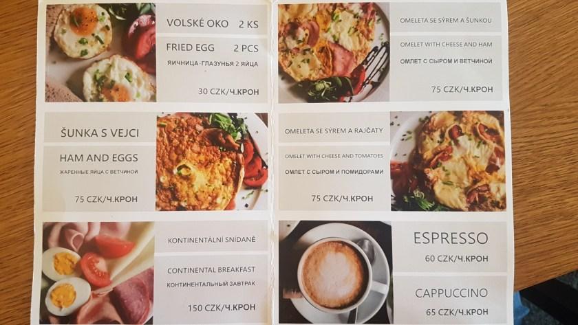 Завтрак в Праге,ресторан U Zlate Podkovy