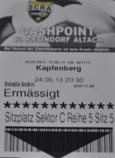 Das personifizierte Eintrittsbillet.