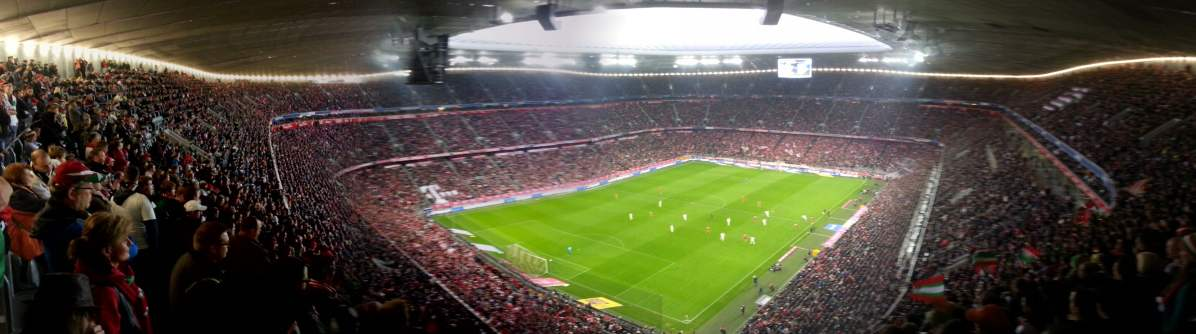 Panoramabild in der Allianz Arena