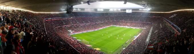 Panoramabild in der Allianz Arena