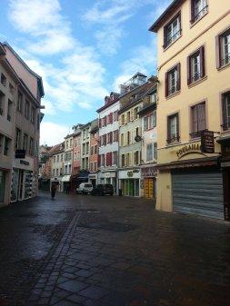 Gassen in der Stadt Montbéliard