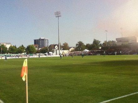 Blick aufs Spielfeld