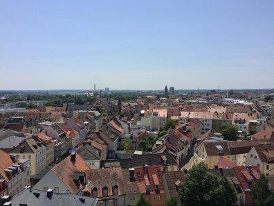 Blick über das Städtchen Schweinfurt