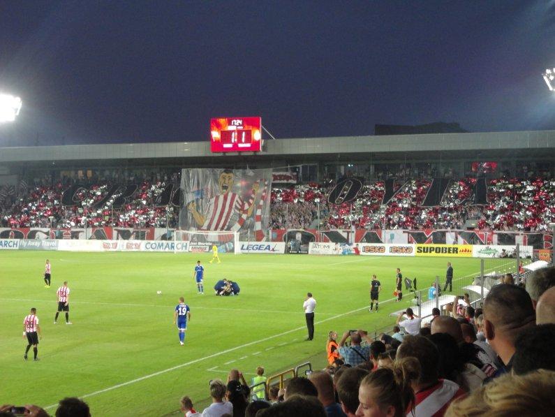 Choreografie der Cracovia-Fans