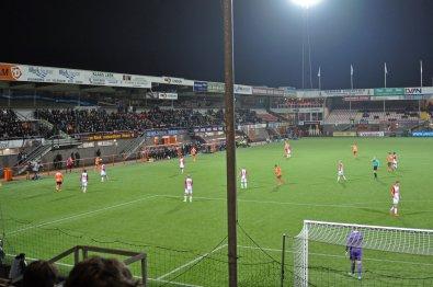 Blick auf die Haupttribüne im Kras Stadion