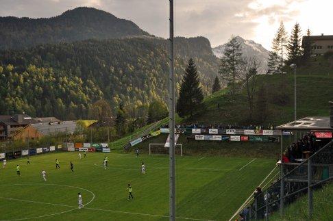 Malerische Stimmung im Bizauer Bergstadion