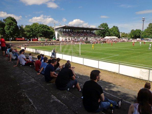 Das Stadion in Villingen mit der Haupttribüne