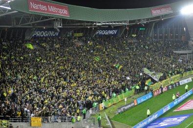 Die Heimkurve vom FC Nantes