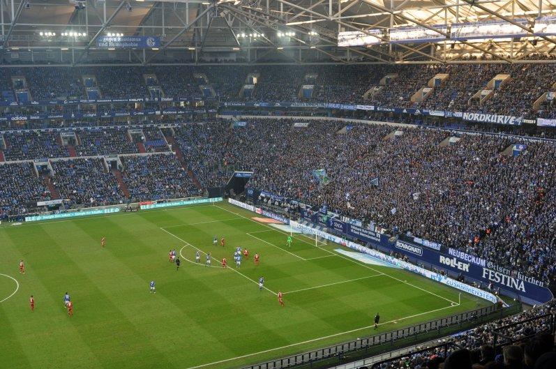 Sicht in die Arena auf Schalke