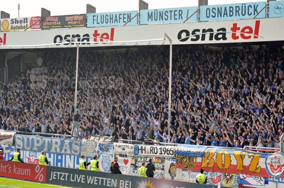 Die stimmungsgewaltigen Hansa-Fans in Aktion
