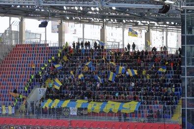 Die mitgereisten Fans aus Rostow am Don